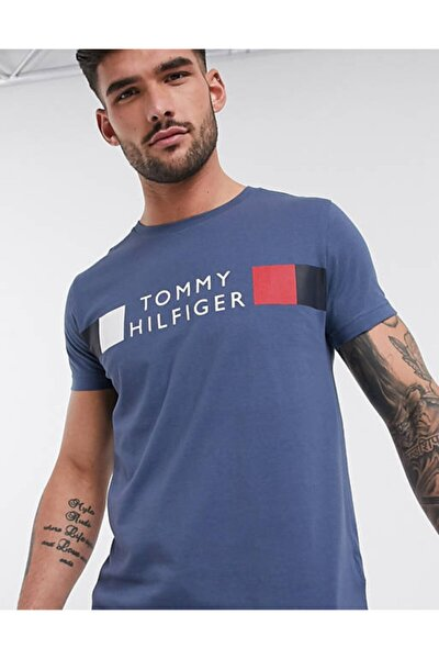 Stripe Logo Men Tshirt