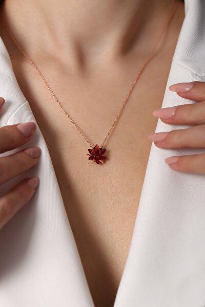 Kadın Rose Lotus Koleksiyonu 925 Ayar Gümüş Kolye
