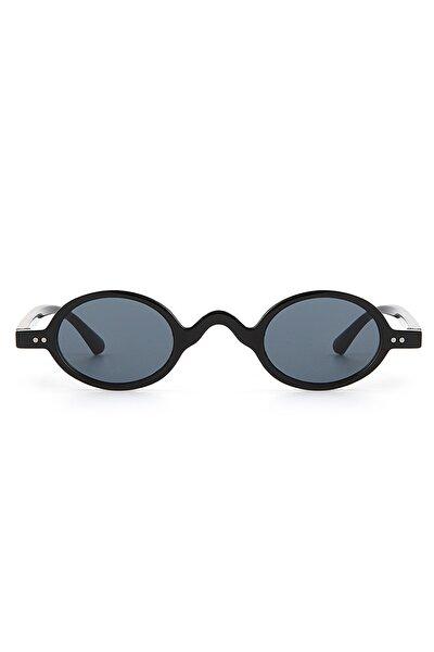 Siyah Minimal Vintage Kadın Güneş Gözlüğü Apsd00140