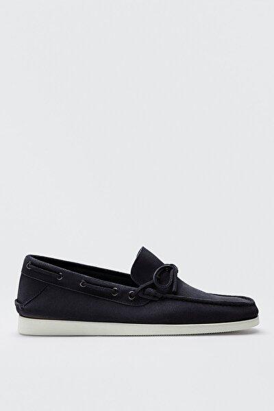 Erkek Mavi Kalın Süet Deri Tekne Ayakkabısı 12421850