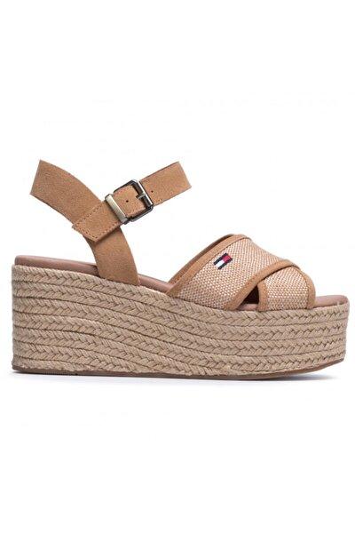 Kadın Kahverengi Dolgu Topuk Sandalet En0en00910-gqe