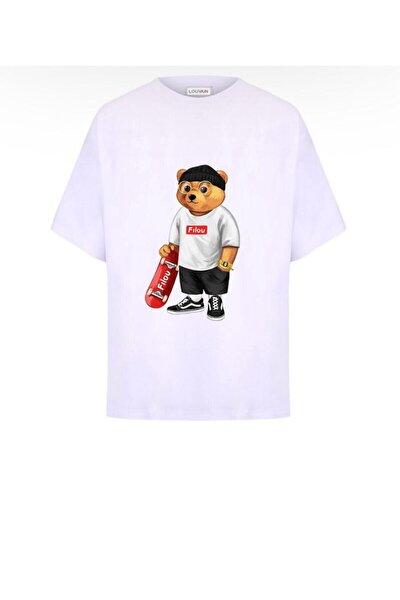 Unisex Beyaz  Louvain  T-Shirt