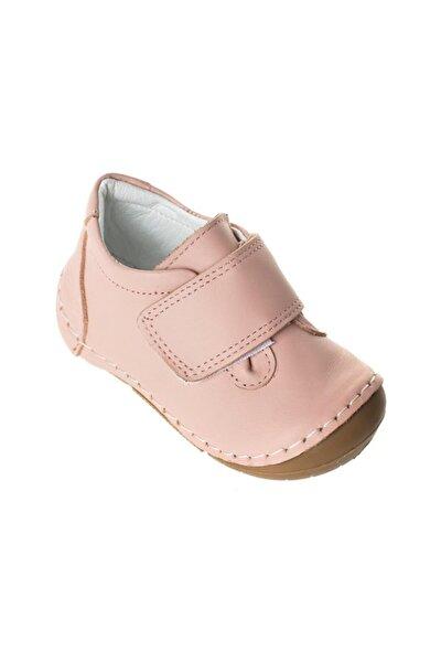 Kız Bebek Pudra Ortopedik Kışlık Hakiki Deri Cırtlı Ilk Adım Ayakkabısı
