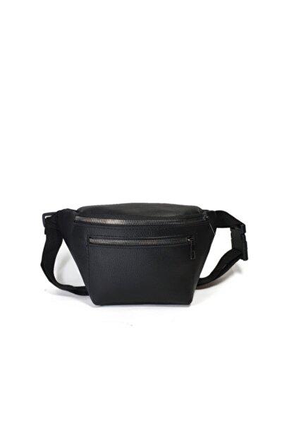 Unisex Siyah Ön Gözlü Ayarlanabilir Askılı Bel Ve Omuz Çantası Gc010600