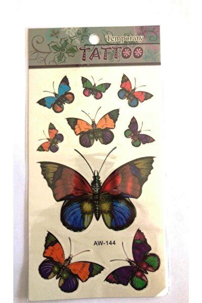 Renkli Kelebekler Yapıştırma Sticker Dövme Geçici Dövme Temporary Tattoos
