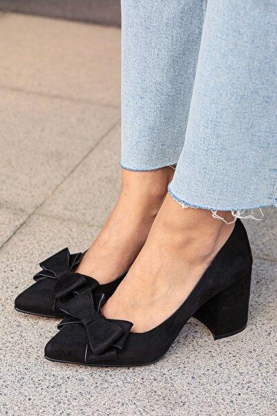 Siyah Kadın Topuklu Ayakkabı 002057BL