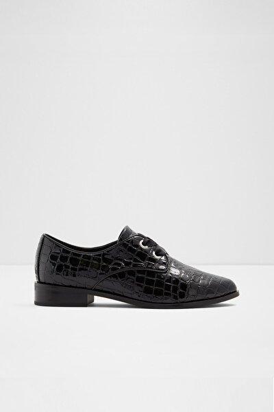 Kadın Siyah Gemelli Oxford Ayakkabı