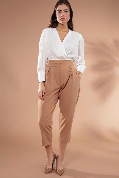 Kadın Pileli Yüksek Bel Pantolon Y20w176-70746