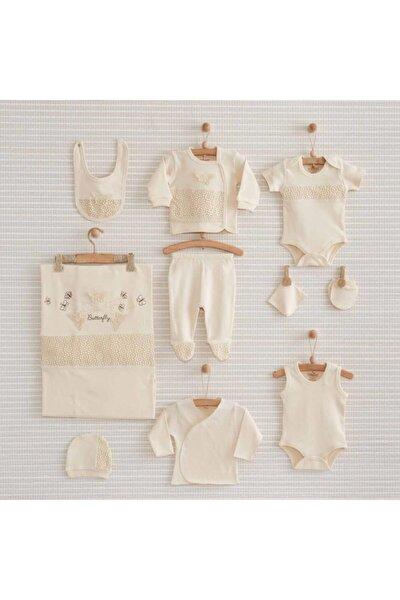 Butterfly Organik Kız Bebek Hastane Çıkışı 10 Parça Bebbek