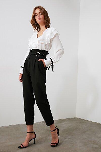Siyah Toka Detaylı Pantolon TWOAW20PL0466