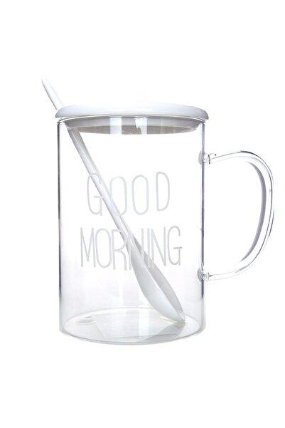 Good Morning Kaşıklı Kupa Beyaz
