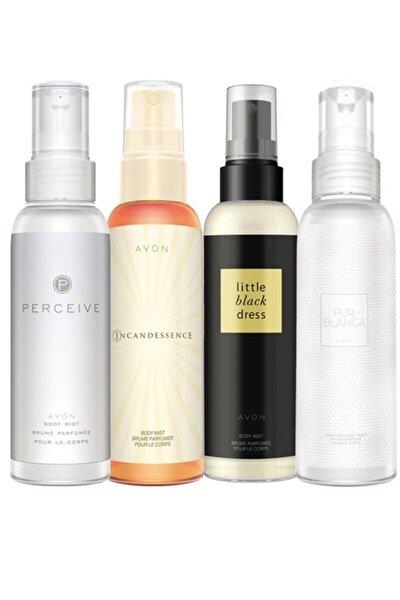 Body Mist Parfümlü Vücut Spreyleri Dörtlü Paket