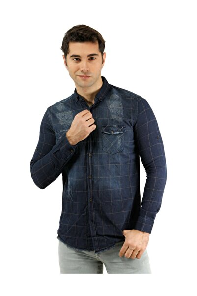 Erkek Gömlek -PHAZZ BRAND  Kahverengi Erkek Gömlek - 6065