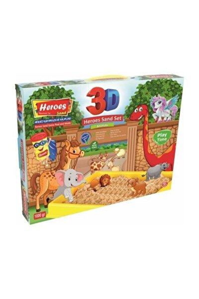 3d Kinetik Kum 1kilo 4 Renk Oyun Kumu+ Havuz Ve Kalıpları