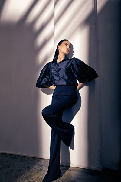 Kadın Siyah Triko Pantalon