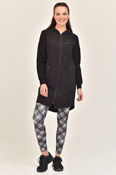 Siyah Kadın Uzun Ceket GS-1522