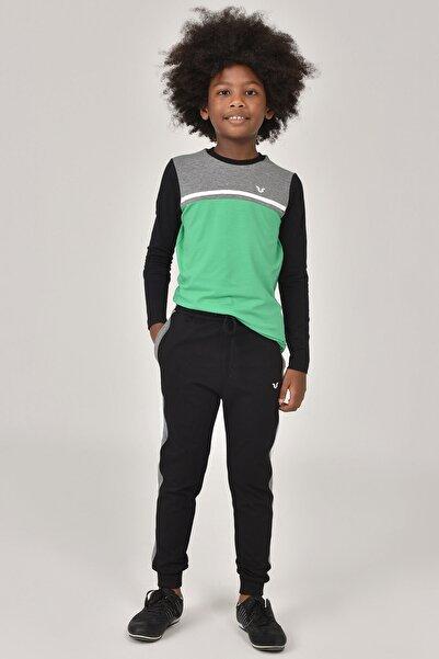 Yeşil Unisex  Uzun Kol Çocuk T-Shirt FW-1487