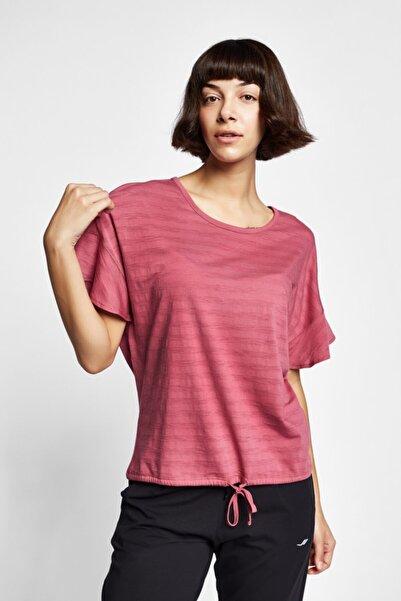 19Y-2161 Gül Kurusu Kadın Kısa Kollu T-Shirt