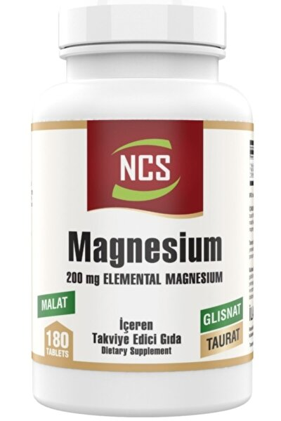Magnesium Bisglisinat Malat Taurat 180 Tablet Magnezyum Element Formül