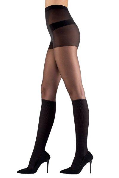 Kadın Siyah Fantazi Külotlu Çorap