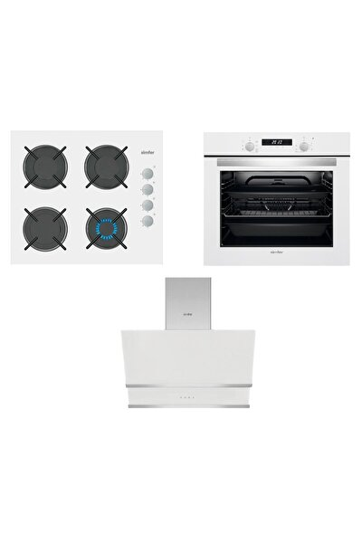Akasya Beyaz Dijital Ankastre Cam Set (3507 - 8668 -7330)
