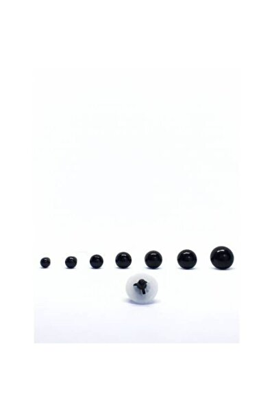 50 Çift 100 Adet 6 mm Siyah Göz Paketli Amigurumi Güvenli Vidalı Kilitli Sertifikali