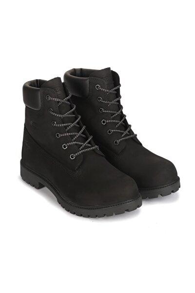 Erkek Siyah Devon Büyük Numara Su Geçirmez Bot Ayakkabı X4080