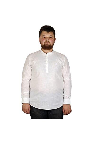 Erkek Beyaz Büyük Beden Gömlek