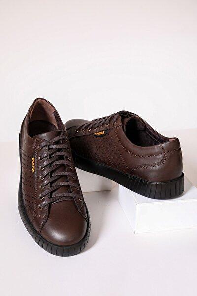 Erkek Kahverengi Deri Ayakkabı