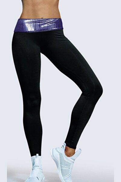 Kadın Siyah Terleten Spor Tayt