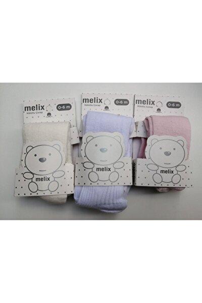 3'lü Pamuklu Bebek Külotlu Çorap
