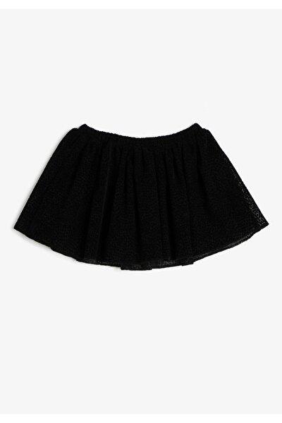Siyah Kız Çocuk Normal Bel Etek