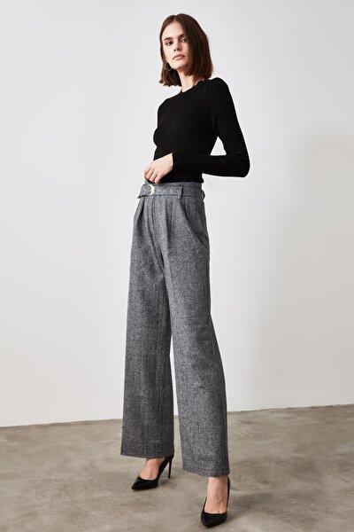 Lacivert Kemerli Pantolon TWOAW21PL0345