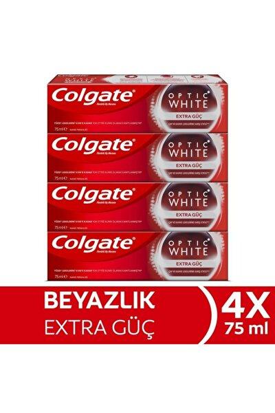 Optik Beyaz Extra Güç Beyazlatıcı Diş Macunu 75 Ml X 4 Adet