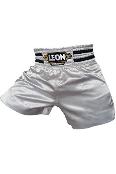 Leon Ground Kick Boks Ve Muay Thai Şortu Gümüş