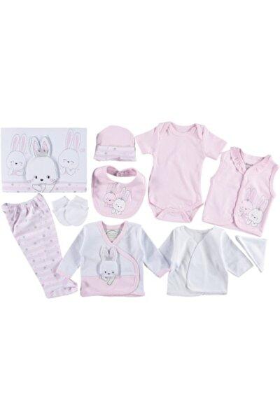 Kız Bebek Pembe Taçlı Tavşan 10'lu Hastane Çıkışı