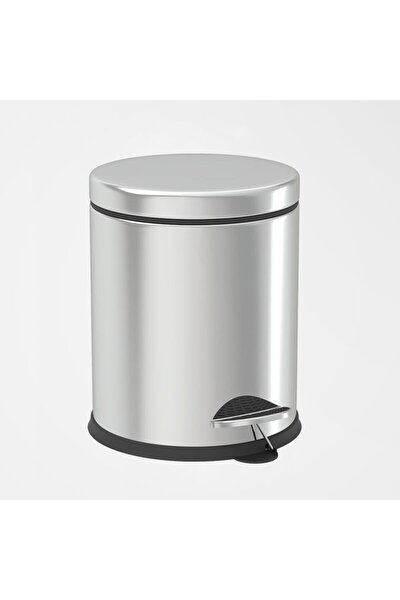 Paslanmaz Çelik (Krom) Pedallı Çöp Kovası 8 Lt