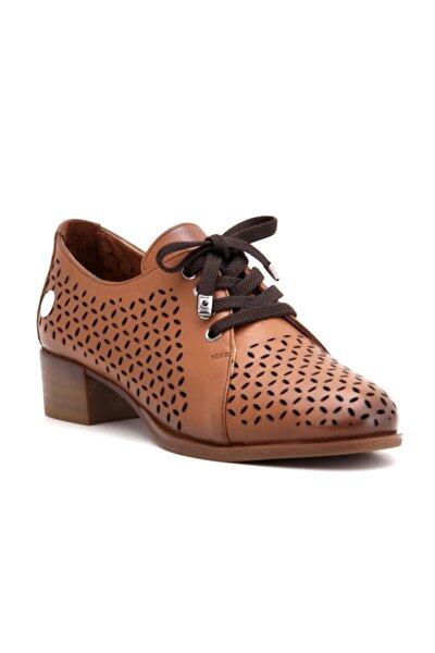 Kadın Kahverengi Hakiki Deri Ayakkabı