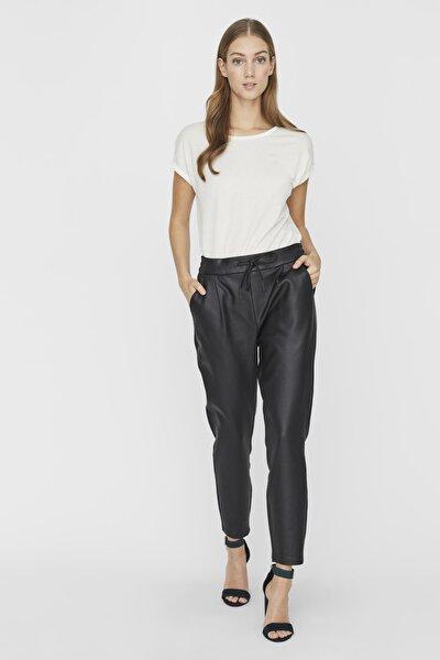 Kadın Siyah Bağlamalı Kaplama Pantolon 10205737 VMEVA