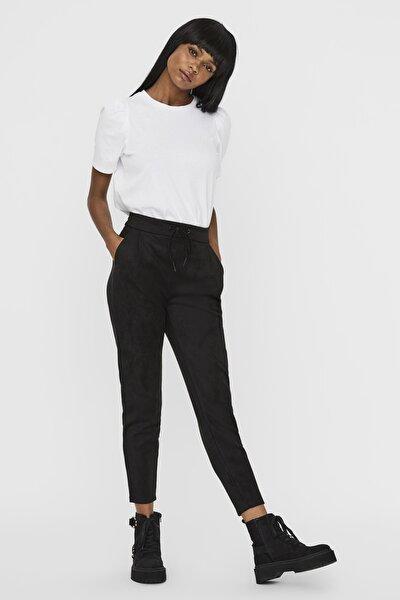Kadın Siyah Süet İpli Pantolon 10225615 VMEVA