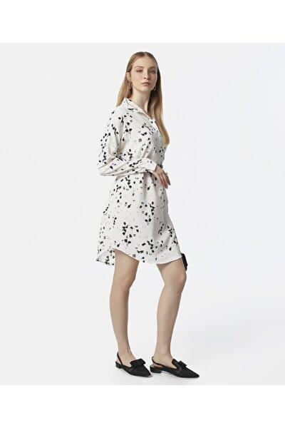 Kadın Beyaz Desenli Elbise