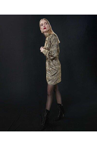 Kadın Altın Parlak Elbise