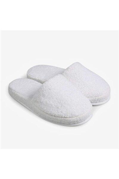 Unisex Beyaz Yüksek Tabanlı Banyo Terliği