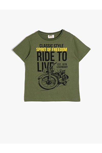 Erkek Çocuk Haki T-Shirt