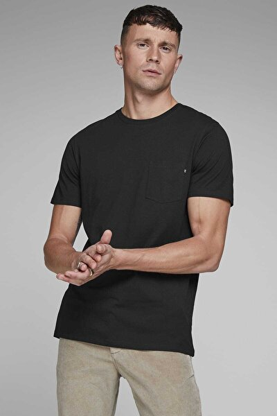 Erkek Siyah Kısa Kollu T-Shirt