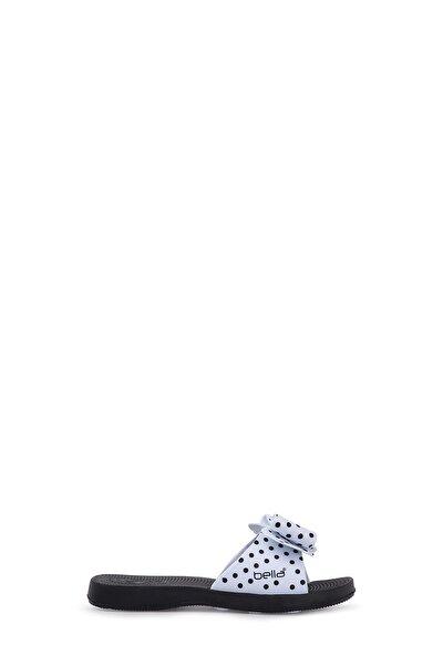 Unisex Çocuk Siyah Beyaz  Terlik
