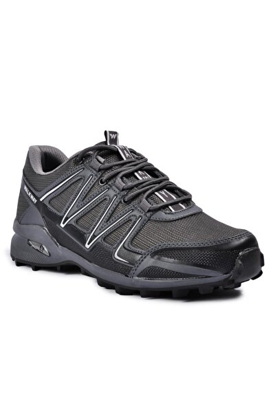 Erkek  Füme Beyaz Memory Foam  Spor Ayakkabı 2097