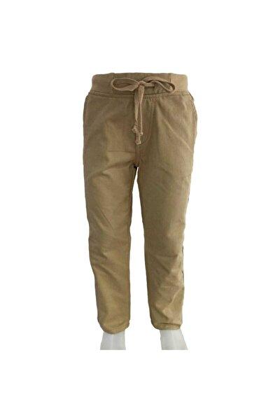 Erkek Bej Ribanalı Okul Pantolonu