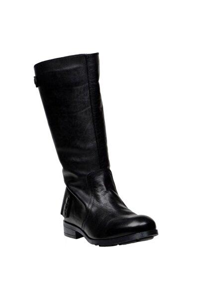 Hakiki Deri Siyah Erkek Çizme 5300X630
