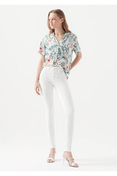 Kadın Beyaz Gold Jean